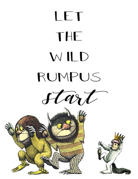 image about Let the Wild Rumpus Start Printable referred to as Pinterest