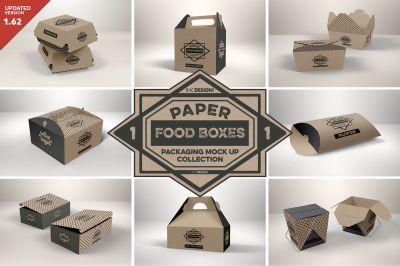 Download Vol 1 Paper Food Box Packaging Mockup Collection Psd Mockup Template In 2020 Food Box Packaging Packaging Mockup Design Mockup Free
