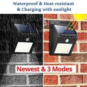 Solar Lights Outdoor 12 20 30 48 Led Super Bright Pir Motion Sensor 3 Modes Switch Wireless Waterproof Solar Powered Security In 2020 Solar Lights Outdoor Solar Lights Solar Light Bulb