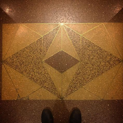 Terrazzo And Brass Inlay At Stella Building In Nyc Photo