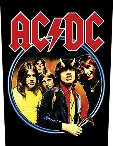 "AC/DC Highway To Hell - Woven Back Patch 11.25"" x 14"""