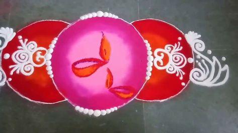 Diya Rangoli design