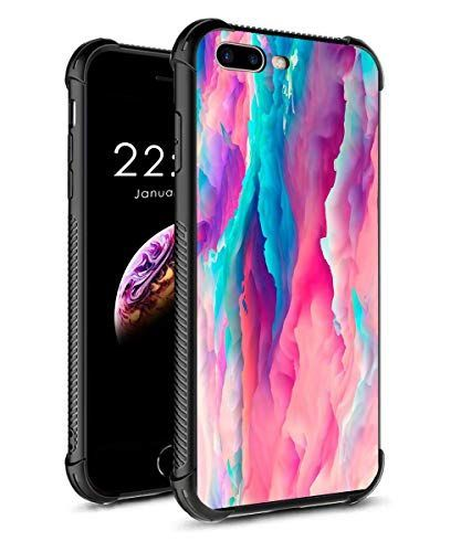 Iphone 8 Plus Case Iphone 7 Plus Case Tempered Glass Phone Cover For Girl Women With Soft Silicone Tpu F Wallpaper Iphone Love Marble Iphone Phone Cases Marble
