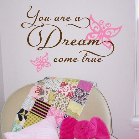 Purple Teenage Girls Bedroom Walls Decoration Ideas With Butterfly Vinyl  Quotes Wall Stickers Decals | Home | Pinterest | Vinyl Quotes, Quote Wall  And Wall ...