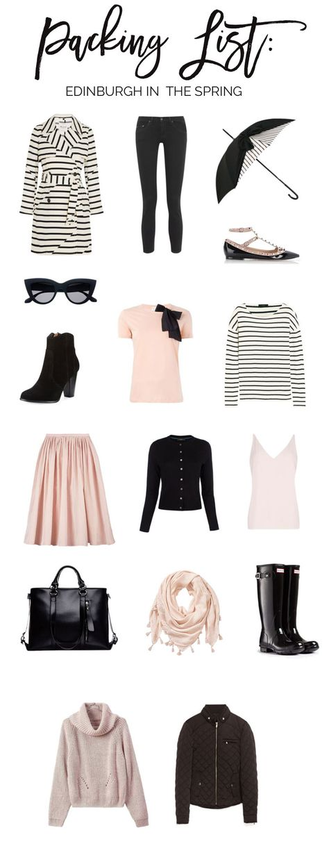 packing list: what to pack for Edinburgh, Scotland in the spring