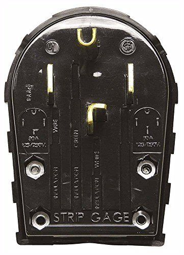 Hubbell Rr435p Range And Dryer Plug Sb 30 Or 50 Amp 3 Pole 4 Wire Angle Black Find Out More About The Great Product At The Im Dryer Plug Plugs Gadget World