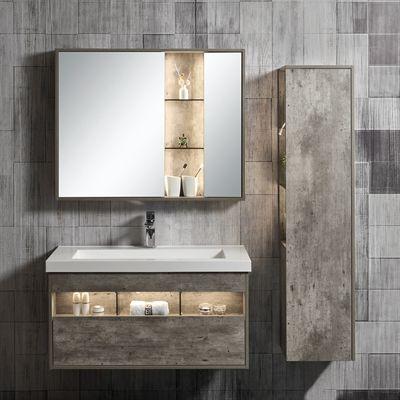 Jade Bath Bathroom Vanity 3572 40 13 Harlie 40 In Single Wall Mounted 3 Piece Set With Led Vanity Set With Mirror Single Bathroom Vanity Modern Bathroom Vanity