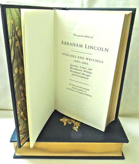 Abraham Lincoln Speeches Writings 2 Vol Hc Book Set Abraham