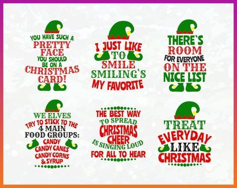 16 New Ideas For Quotes Christmas Funny Humor Elf Movie In 2020 Elf Movie Quotes Christmas Movie Quotes Funny Christmas Cards Diy