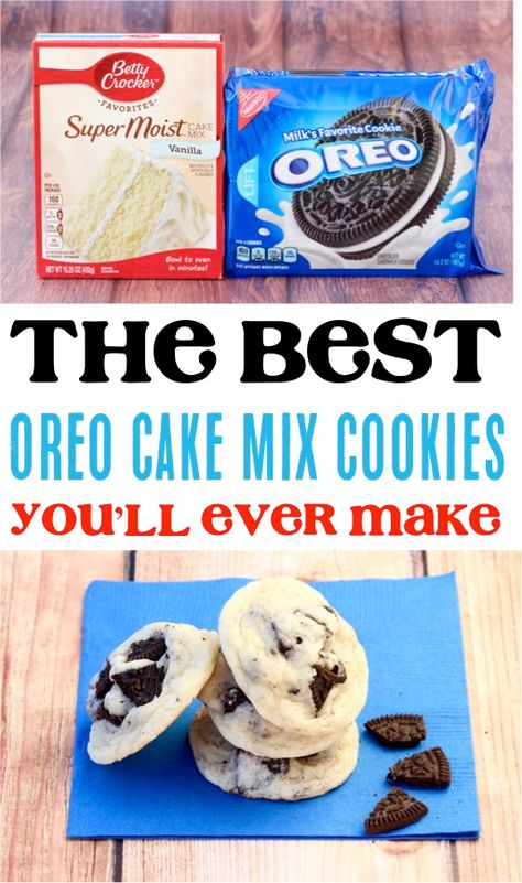 (Only 4 Ingredients) - Never Ending Journeys Oreo Cookie Recipe! (Only 4 Ingredients) - Never Ending Journeys Oreo Cookie Recipe! (Only 4 Ingredients) - Never Ending Journeys<br> Cake Mix Cookie Recipes, Chip Cookie Recipe, Easy Cheesecake Recipes, Cake Mix Cookies, Oreo Cookies, Cookies Et Biscuits, Chip Cookies, Cupcakes, Oreo Recipe
