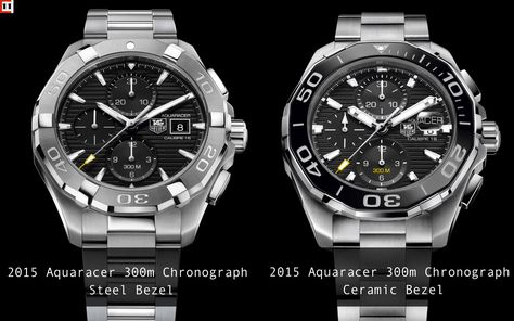 Aquaracer 300m Calibre 16 Chronograph- Steel vs. Ceramic Bezel