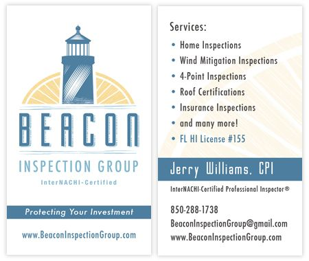 business card inspector and business card design closer look