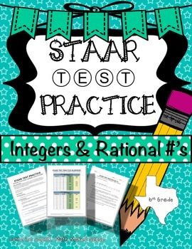 6th GRADE STAAR Practice Integer & Rational Number Operations TEKS