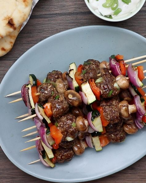 These Creamy Mushroom Kofta Kebabs pair perfectly with a variety of vegetables you might have in your fridge – try them tonight!
