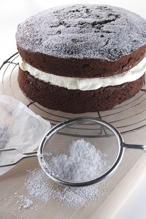 Schoko Kuchen Mit Cremefullung Rezept Enie Backt