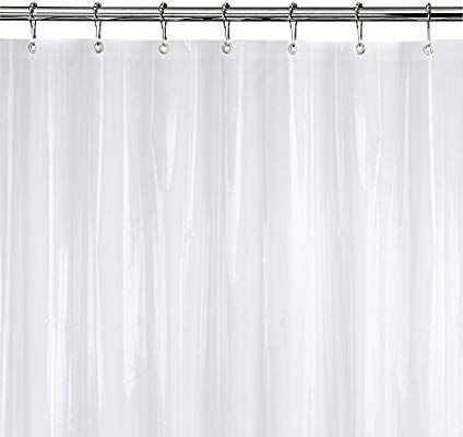 Amazon Com Epica Strongest Mildew Resistant Shower Curtain Liner On The Market 100 Anti Bacterial 10 G Curtains Shower Curtain Basic Shower Curtain