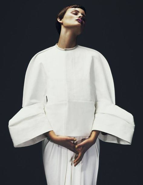 Best in Sculptural Fashion: Love this structured jacket with rounded silhouette & sculptural sleeves // Rick Owens