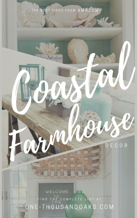A collection of the Best Coastal Farmhouse Decor Accents. Beach inspired design for the fresh new style of Coastal Farmhouse decor for your home. Farm House Living Room, Coastal Decor, Farmhouse Decor, Beach House Interior, Accent Decor, Cottage Decor, Home Decor, Seaside Cottage Decor, Seaside Cottage