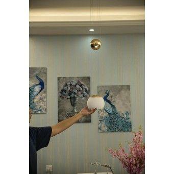INSP. Lampa wisząca CONTROL złota szkło , aluminium