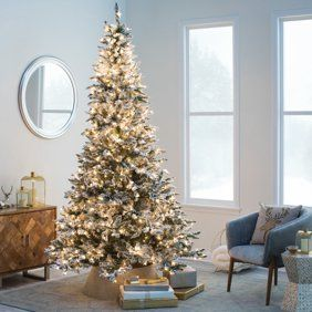 Holiday Time Pre Lit Birmingham Fir Pre Shaped Christmas Tree 7 5 Clear Walmart Com Spruce Christmas Tree Fake Christmas Trees Artificial Christmas Tree