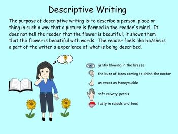 Writing A Descriptive Paragraph Pdf Gr 3 5 By Carmela Fiorino Vieira Teacher Pay Sensory Word Lessons Thing To Write Essay On How My Role Model Best Favourite Food