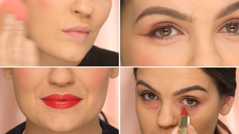 A single red lipstick can be used in countless ways. In this makeup.com video, learn how to use the classic shade to brighten your complexion, correct dark circles, fake fuller lips and amp up your cat eye. These simple lipstick hacks are sure to become part of your everyday makeup routine.  #makeuphack #beautyhack #LipGlossRollOn