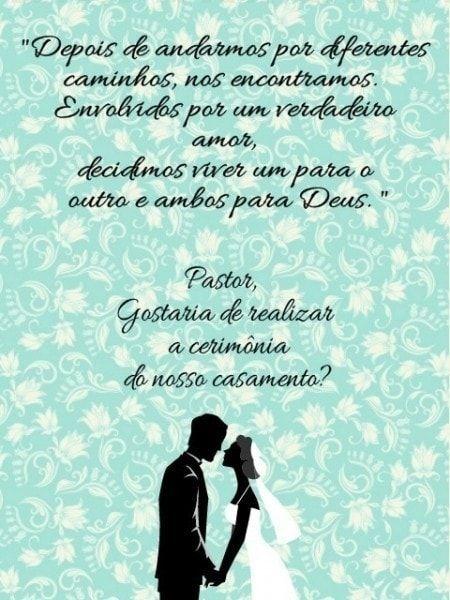 Convite Para Pastor Celebrar Casamento Frases Convite Casamento