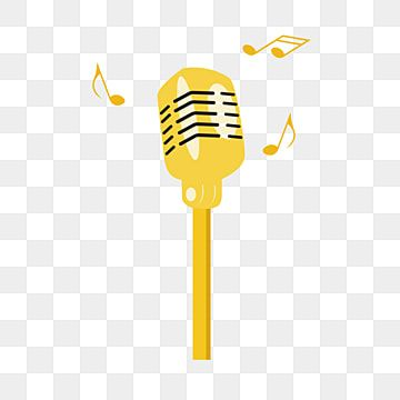 Yellow Microphone Illustration Yellow Microphone Music Microphone Beautiful Microphone Png Transparent Clipart Image And Psd File For Free Download Illustration Clip Art Festival Design