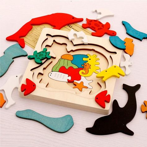 Dolphin Wooden Puzzle