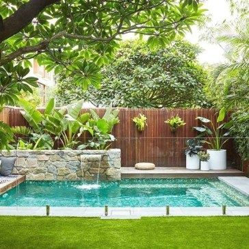 30 Amazing Natural Small Pools Design Ideas For Backyard Coodecor Backyard Pool Landscaping Pool Landscape Design Small Pool Design