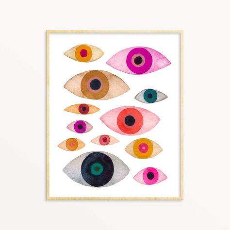 All eyes on me Unframed Print (Many Eyes)