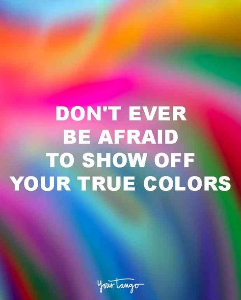 """""""Don't ever be afraid to show off your true colors."""" #gaypride #lgbt #lgbtq #gay #lesbian #bisexual #pride #pridemonth"""