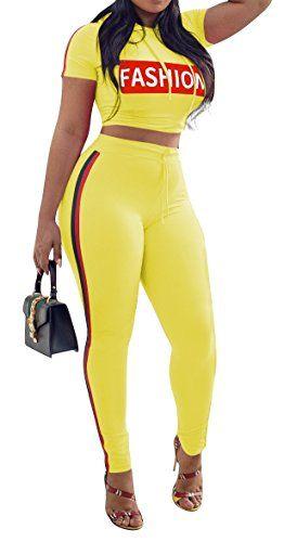 UUYUK Women Crop Tank Top and Leggings Pants Gym Workout Sleeveless Print Two Piece Tracksuits Sportswear