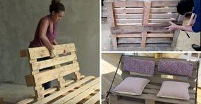 8 Tutos Videos Pour Fabriquer Un Canape En Palette Bonus Deco Avec Images Fabriquer Un Canape Canape Palette Palette Jardin Canape