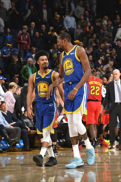 Quinn Cook Of The Golden State Warriors And Kevin Durant Of The Kevin Durant Golden State Warriors Golden State