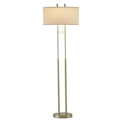 62 Duet Floor Lamp Silver Ivory Adesso Silver Floor Lamp Floor Lamp Stylish Floor Lamp