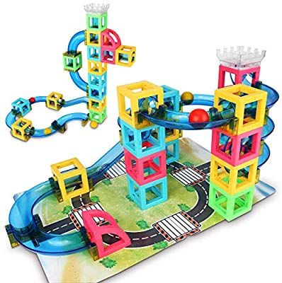 kids marble run race Track Maze building blocks construction set educational toy