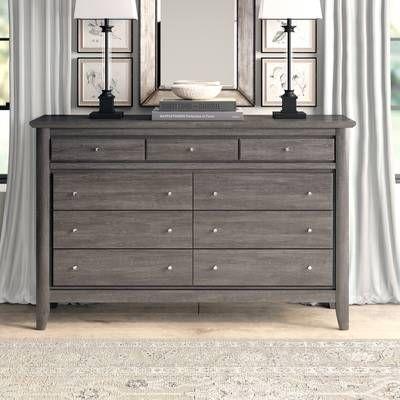 Joplin 9 Drawer Dresser 9 Drawer Dresser Grey Bedroom Furniture