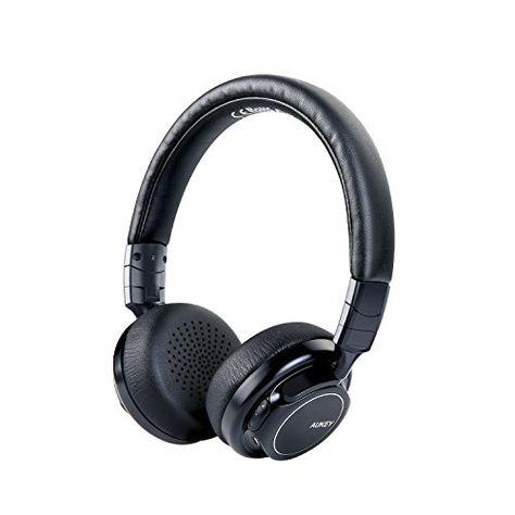 Aukey Bluetooth Kopfhorer Kabellos On Ear Mit Sattem Bass 18 Stunden Spielzeit Mikrofon Und 3 5 Mm Audioeingang Federleichte Bluetooth Beats Bluetooth Audio