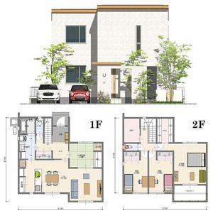 間取り 北玄関 4ldk 41坪 二世帯住宅 間取り 2世帯住宅 間取り 住宅 間取り