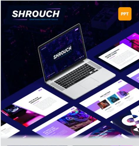 Shrouch - Esport Gaming PowerPoint Template