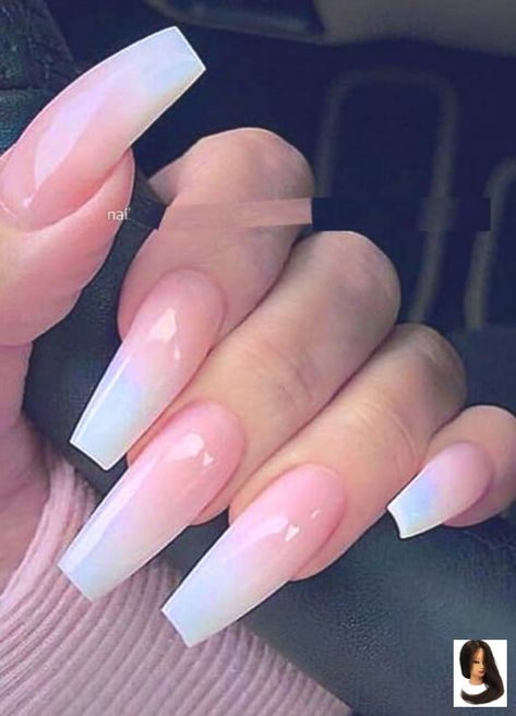 Coffin coffin Nails Designs French Long nails Nowadays