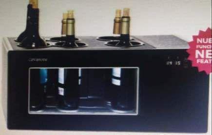 Open 6 Bottle Wine Cooler Temperature Show Pour Wine Bottle Wine Cooler Bottle