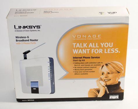 #sale #ebay Linksys Wireless-G Broadband #Vonage Router with 2 phone ports WRTP54G - New $19.99