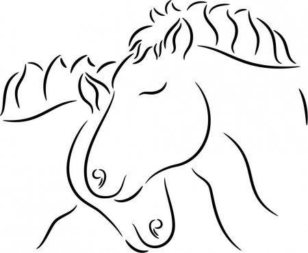 Ilustracion De Caballos En El Amor Aislado Ilustracion De Stock En 2020 Ilustracion De Caballo Como Dibujar Un Caballo Caballos Enamorados