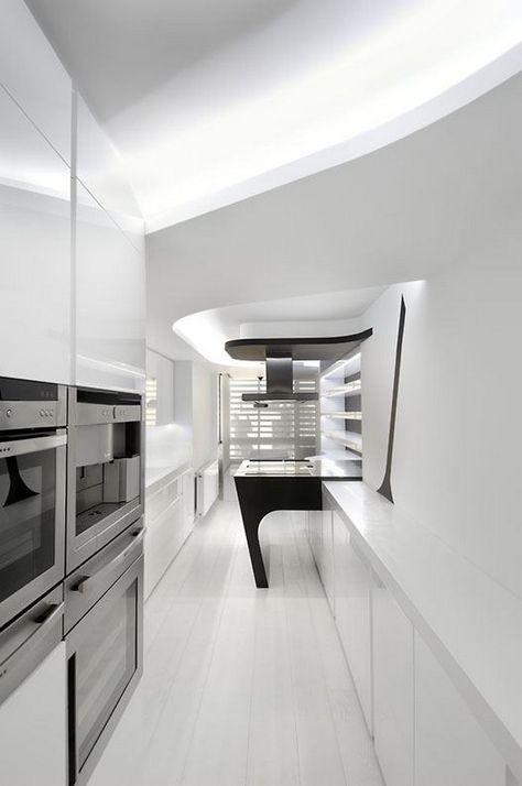 Elegant Interesting Modern Black U0026 White Apartment By A Cero   Futuristic Interior,  Flats And Entrance Halls