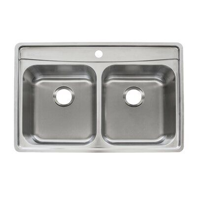 Franke Evolution Stainless Steel 33 L X 22 W Double Basin Drop