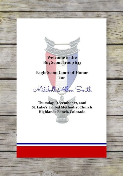 Simple Honors Eagle Scout Court of Honor Program