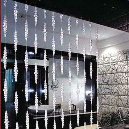 Online Shop 20 Strands Lot Crystal Beaded Strands Beaded Curtain Partition Curtain For Decoration Beaded Curtains Temporary Room Dividers Bamboo Room Divider