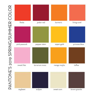 designs in paper pantone s 2019 spring summer colors color trends fashion pms 465 306u